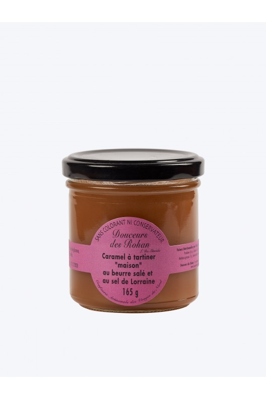 """caramel à tartiner """"maison"""" au beurre salé et au sel de Lorraine 165g"""