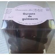 """oursons de guimauve """"maison"""" chocolat noir"""